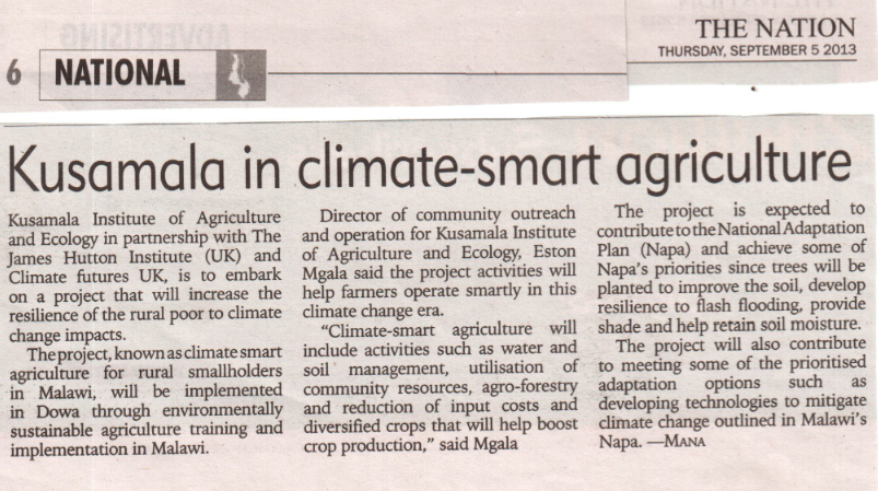Climate-Smart Agriculture in the News