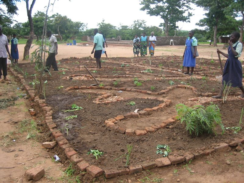 school garden bed layout